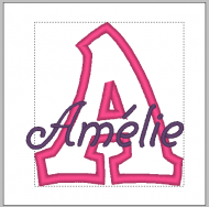 Zebra - Applique Name