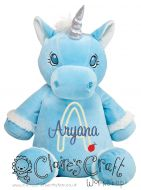 Blue Unicorn - Applique Name