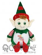 Harlequin Christmas Elf Cubbie - Applique Christmas