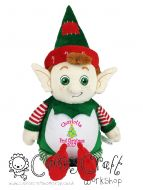 Harlequin Christmas Elf Cubbie - First Christmas