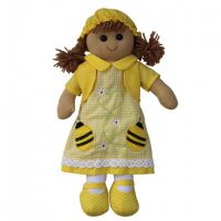 Yellow Bumble Bee Rag doll
