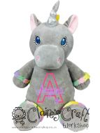 Grey Unicorn - Applique Name