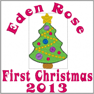 New Pink Bear - First Christmas