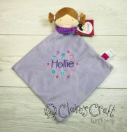 Personalised Girl Comforter with name embroidered