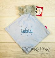 Personalised Elephant Comforter with name embroidered