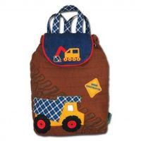 Personalised Construction Stephen Joseph Quilted Backpack for children, School Bag, Nursery, Kids, Rucksack, Rucsac, named, child, digger