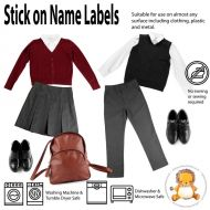 Magic Stick On Clothing Name Labels - no ironing or sewing required, washing machine safe, uniform, lunch box, drink bottle, school, camps