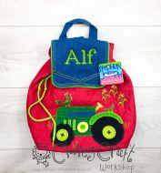 Personalised Tractor Stephen Joseph Quilted Backpack for children, School Bag, Nursery, Kids, Rucksack, Rucsac, named, child