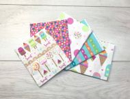 """FQ Pack of 5 Different Ice Lolly 18"""" X 22"""" Fabric 100% Craft Cotton Fat Quarters The Craft Cotton Company"""
