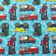 Tonka Trunks Licensed 100% Cotton Fabric - Fat Quarter, 1/2 Metre and by the Metre. The Craft Cotton Company