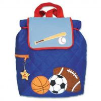 Personalised Sports Stephen Joseph Quilted Backpack for children, School Bag, Nursery, Kids, Rucksack, Rucsac, named, child