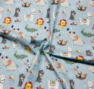 Wild About You - Wild Animals 100% Cotton Fabric - Fat Quarter, 1/2 Metre and by the Metre. The Craft Cotton Company