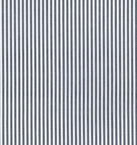 Navy and White Yarn Dyed Cotton Chambray Stripe 100% Cotton Fabric - Fat Quarter, 1/2 Metre and by the Metre. John Louden