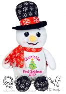 Harlequin Snowman Cubbie - First Christmas