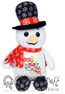 Harlequin Snowman Cubbie - Applique Christmas