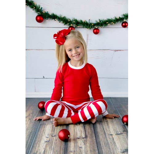 Christmas PJ s Crimson   White Stripe - Kids - Claire s Craft Workshop 941400a61